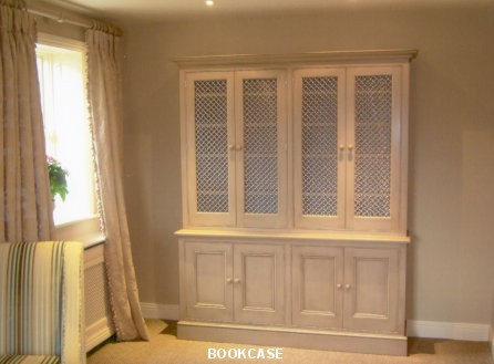 Bespoke bookcase with storage cabinet